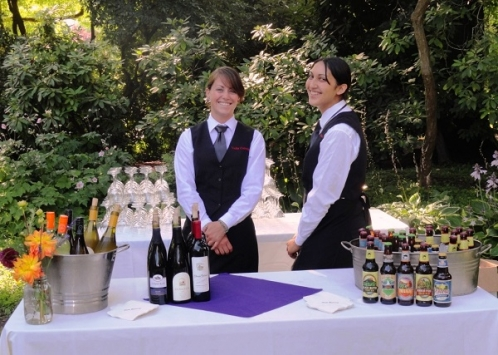 Beer And Wine Bartender At Wedding Reception