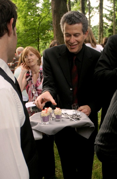 Catering Server Passed Hors d'oeuvres at Bridal Veil Lakes |