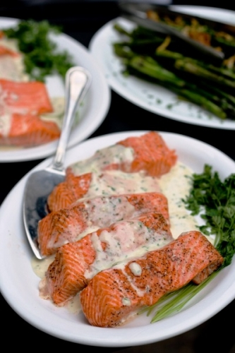 Columbia Steelhead Filet with Tarragon Creme Fraiche
