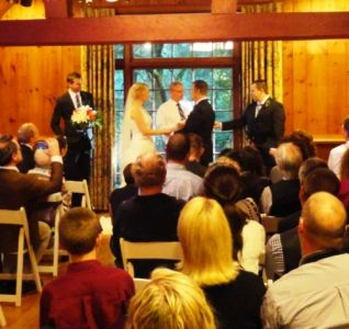 Indoor Wedding Ceremony at Leach Gardens
