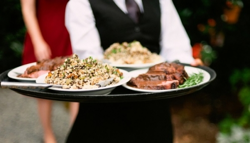 Beef Tenderloin and Red Quinoa Pilaf served Family Style