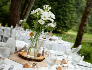 Centerpieces at Bridal Veil Lakes