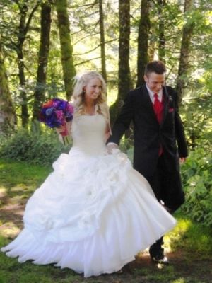 Just Married with the help of Voila at Bridal Veil Lakes!