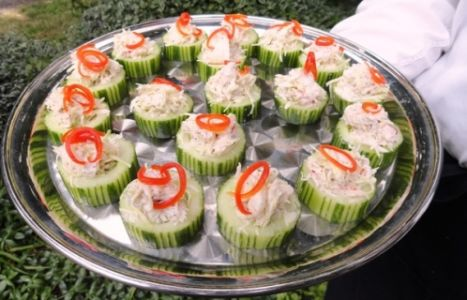 Dungeness Crab Cucumber Cup