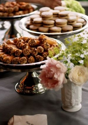 Amaretto Mascarpone filled Tuille Cookies and Peruvian Aljahoras Cookies