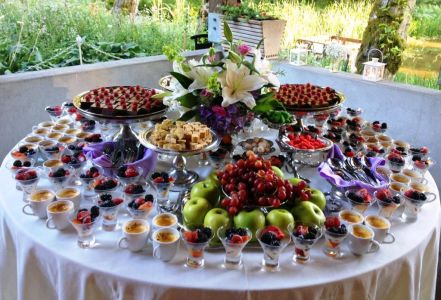 A variety of Gourmet Desserts at Bridal Veil Lakes