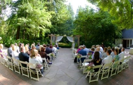 Leach Garden Wedding Ceremony