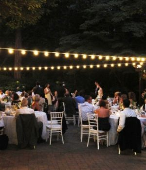 Evening Wedding Reception at Leach Botanical Gardens