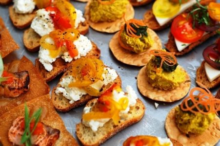 Selection of server passed hors d'oeuvres