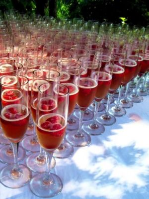 Northwest Raspberry Kir Royal for Toast