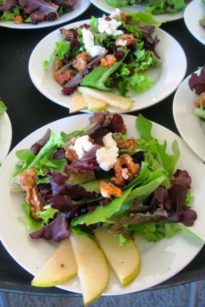 Fall Pear and Candied Walnut Salad