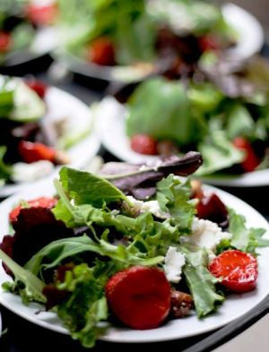 Early Summer Strawberry Salad with our own Balsamic Viniagrette
