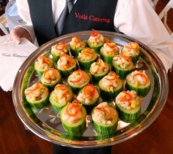 Fresh Bay Shrimp Ceviche in a Cucumber Cup