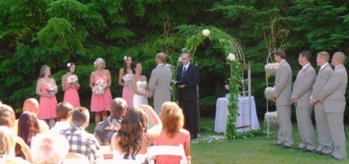 Wedding Ceremony on Private Property