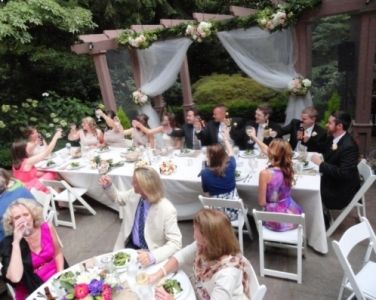 Leach Garden Wedding: Toasting the Newlyweds