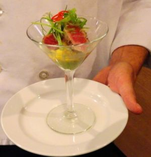 Seared Rare Tuna Martini