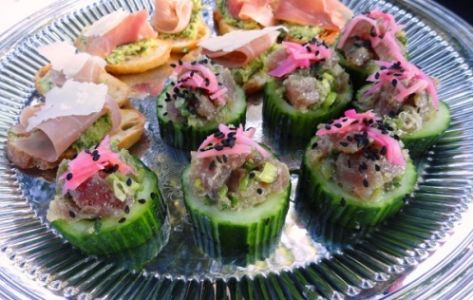 Tuna Tartare in a Cucumber Cup
