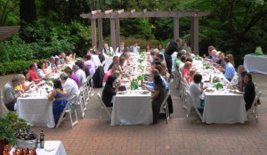 Long tables at Leach Gardens in Portland