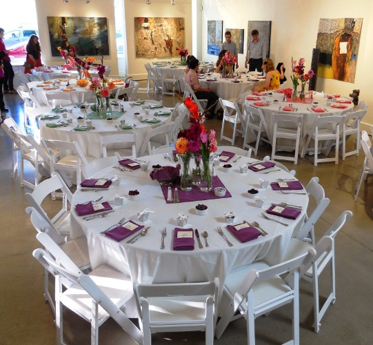 Wedding reception dinner at Gallery 903