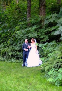 Ready to walk down the aisle at Bridal Veil Lakes