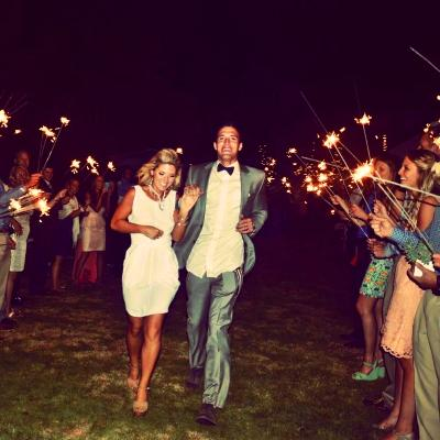 Sparkler Sendoff by Wedding Team