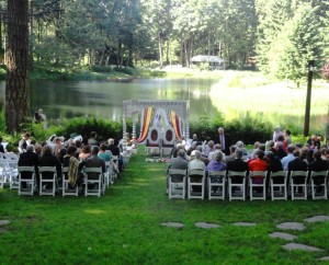 Weddign Ceremony at Bridal Veil Lakes