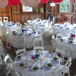 Dining Table at Long Barn Farm set by Voila Catering