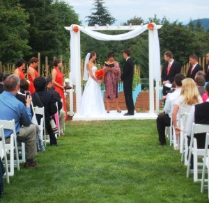 Portland private home wedding ceremony