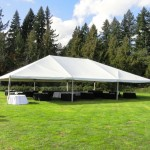 Wedding Reception Canopy provided by Voila Catering in Portland