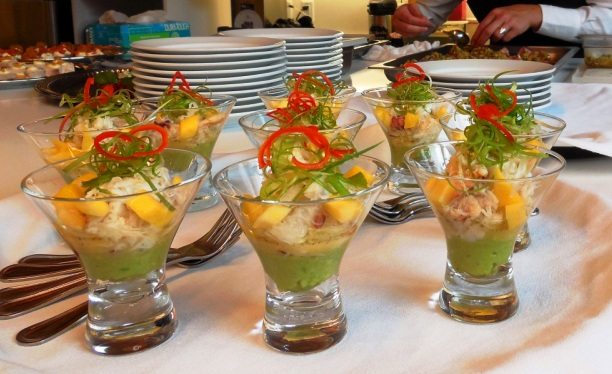Individual hors d'oeuvres by voila catering in portland