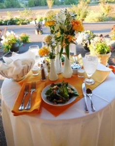 Sweet heart table for bride and groom at Laurel Ridge Winery