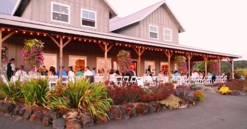 Laurel Ridge Winery family style dinner caterered by Voila Catering