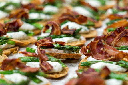 The Best Catering for Spring Ingredinets on Crisp Crostini