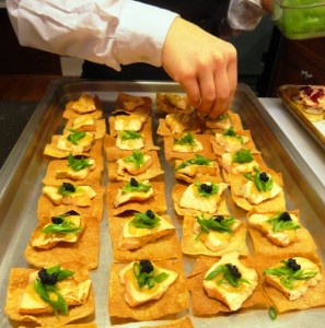 Catering birthday dinner with Salmon Canape