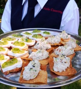 Hors d'oeuvres fundraising dinner