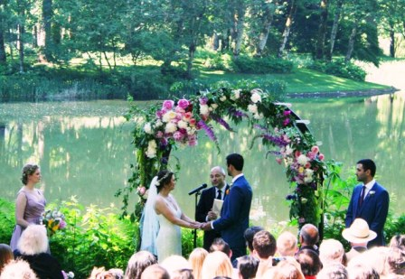 Ceremony at Bridal Veil for Dana and Kasim