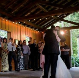 Centrally located, the pavilion is a perfect location for the first dances at Bridal Veil
