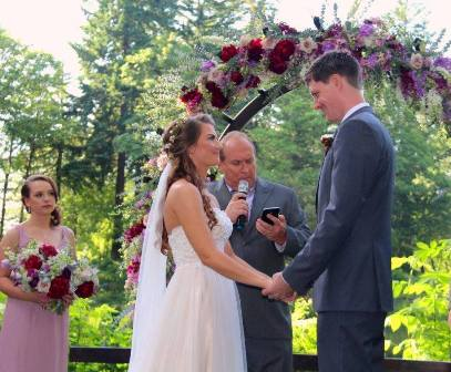 Ceremony at Bridal Veil Lakes