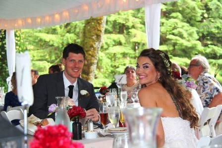 Bridal Veil Lakes Catering dinner reception