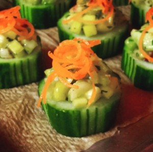 Holiday Party Cucumber Cup