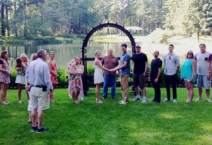 Bridal Veil Wedding rehearsal